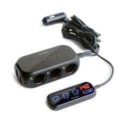 차량용 터치패드 듀얼 USB 3구 멀티소켓