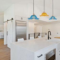 빅플라워 3등 유리 꽃 펜던트 식탁등 주방등 LED포인트조명