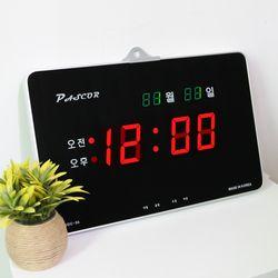 무소음 LED 디지털 전자 벽시계 SDY-305R