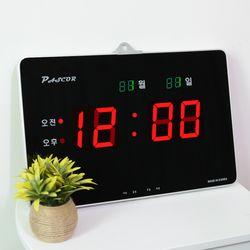 무소음 LED 디지털 전자 벽시계 SDY-306R