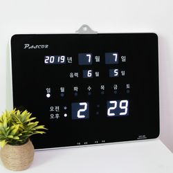 무소음 LED 디지털 전자 벽시계 SDY-307W