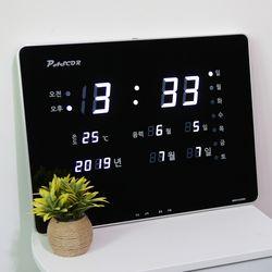 무소음 LED 디지털 전자 벽시계 SDY-320W