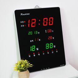 무소음 LED 디지털 전자 벽시계 SDY-323R