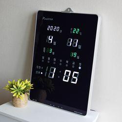 무소음 LED 디지털 전자 벽시계 SDY-326W