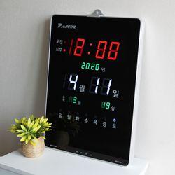 무소음 LED 디지털 전자 벽시계 SDY-327R