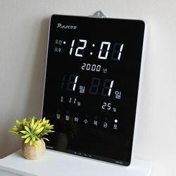 무소음 LED 디지털 전자 벽시계 SDY-328W