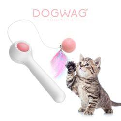 도그웨그 고양이 낚시대 깃털 장난감 강아지풀 캣닢 오뎅꼬치