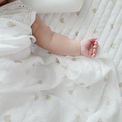 미니베어 인견 아기 여름 홑이불 블랭킷 2color