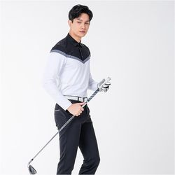 남자 여름 시원한 고기능성 원사 다운블로우 골프 긴