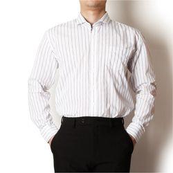 남자 빅사이즈 와이드카라 스트라이프 핏좋은 셔츠