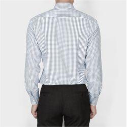 남자 데일리 남친룩 정장룩 깔끔한 체크패턴 셔츠