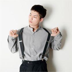 남자 소프트 차이나카라 기본 데일리 깔끔한 셔츠