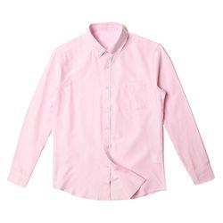 남자 데일리 회사원 N패턴 깔끔한 파스텔톤 긴팔 셔츠