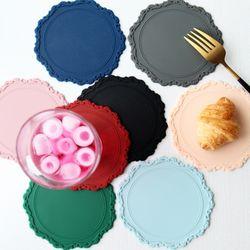 오마주 실리콘 티코스터 컵받침 2p set 8color