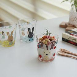 귀여운 토끼 캐릭터 슈크레 유리컵(3type)