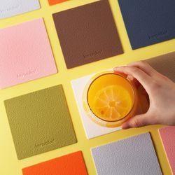 케라미카 실리콘 티코스터 컵받침 (정사각) 13color