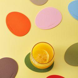 케라미카 실리콘 티코스터 컵받침 (조약돌) 13color
