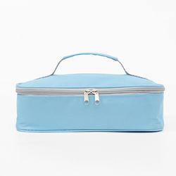 런치 보온보냉 도시락가방 2p세트(28x22cm) (블루)