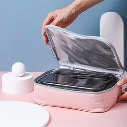 런치 보온보냉 도시락가방 2p세트(28x22cm) (핑크)