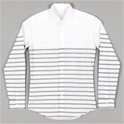 남자 스트라이프 나들이룩 여행 중년남성 셔츠
