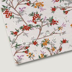 플로렛가든 꽃패턴 린넨원단 에밀리-핑크 20color(0.5마)