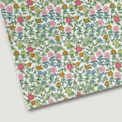 플로렛가든 꽃패턴 린넨원단 하이드-화이트 20color(0.5마)