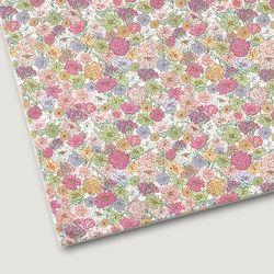 플로렛가든 꽃패턴 린넨원단 라우라-핑크 20color(0.5마)