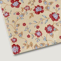 플로렛가든 꽃패턴 린넨원단 피오니-옐로우 20color(0.5마)