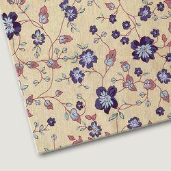 플로렛가든 꽃패턴 린넨원단 피오니-블루 20color(0.5마)