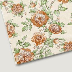 플로렛가든 꽃패턴 린넨원단 포피-옐로우 20color(0.5마)