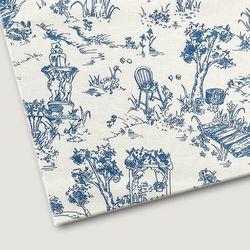 플로렛가든 꽃패턴 린넨원단 트왈-블루 20color(0.5마)