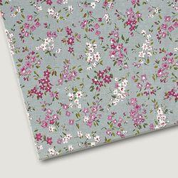 플로렛가든 꽃패턴 린넨원단 바이올렛-핑크 20color(0.5마)