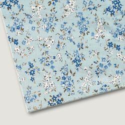 플로렛가든 꽃패턴 린넨원단 바이올렛-블루 20color(0.5마)