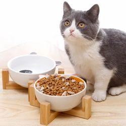 밤부 세라믹 식기 강아지 고양이 식기 사료그릇