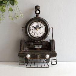 빈티지 기차 탁상 시계