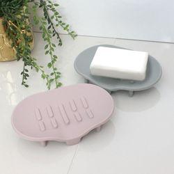 소프트 실리콘 욕실 다용도 비누 받침대 2개