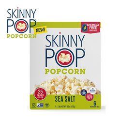 SkinnyPop 스키니팝 전자레인지용 팝콘 저칼로리 씨솔트맛 6개입