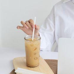 국산 개별포장 친환경 PLA 생분해 커피용 빨대 300개