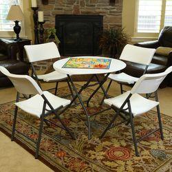 라이프타임 T80423 접이식 원형 테이블