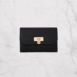 데일리 자물쇠 중지갑 블랙(AG2D9622DABB)