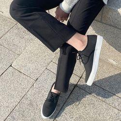 남자 베이직 라인 캔버스 스니커즈 3cm