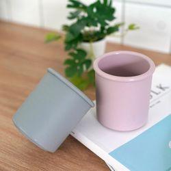 소프트 실리콘 욕실 다용도 양치 컵 2개