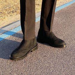 국산 남성 기모 스웨이드 키높이 앵클부츠 7cm
