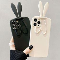 아이폰 11 프로 맥스 쫑긋 토끼 거치대 실리콘 케이스