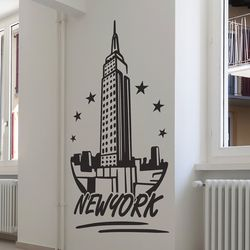 New york star 대형 인테리어 스티커