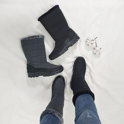 (국내생산)겨울 말랑 바닥 털안감 미들 패딩 방한부츠