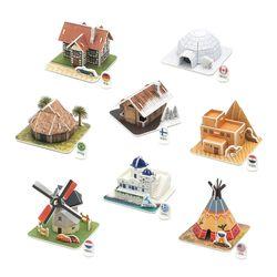 모또 3D퍼즐 세계 전통가옥 유럽편 집콕놀이 입체퍼즐 만들기
