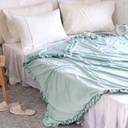 몽글 클라우드 극세사 프릴 특대형 담요 캠핑 블랭킷 150x200cm (3color)