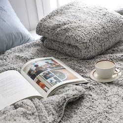러블 그레이 양털 두겹 특대형 겨울 담요 캠핑 블랭킷 150x200cm