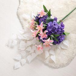 백합수국성묘어렌지 75cmR 조화 납골당 산소꽃 FAGAFT